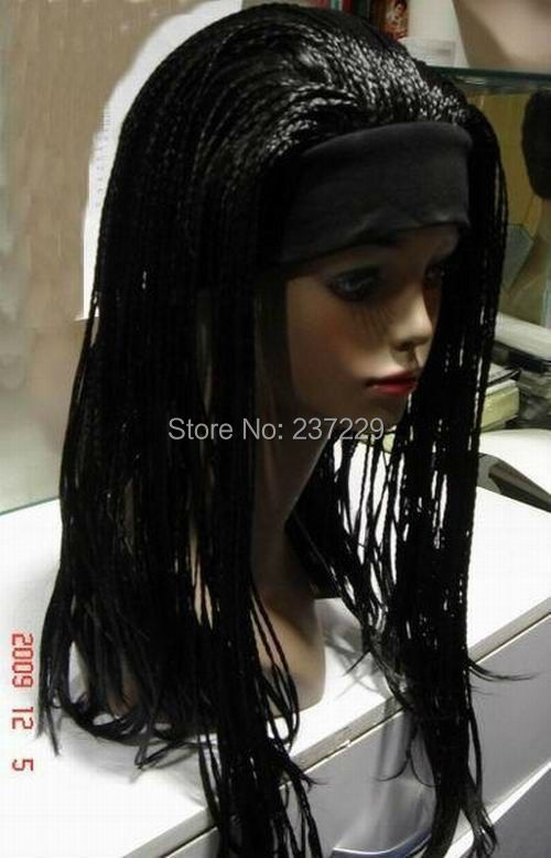 Wholesale price FREE p&amp;P*****Unique black -made braided wig<br><br>Aliexpress