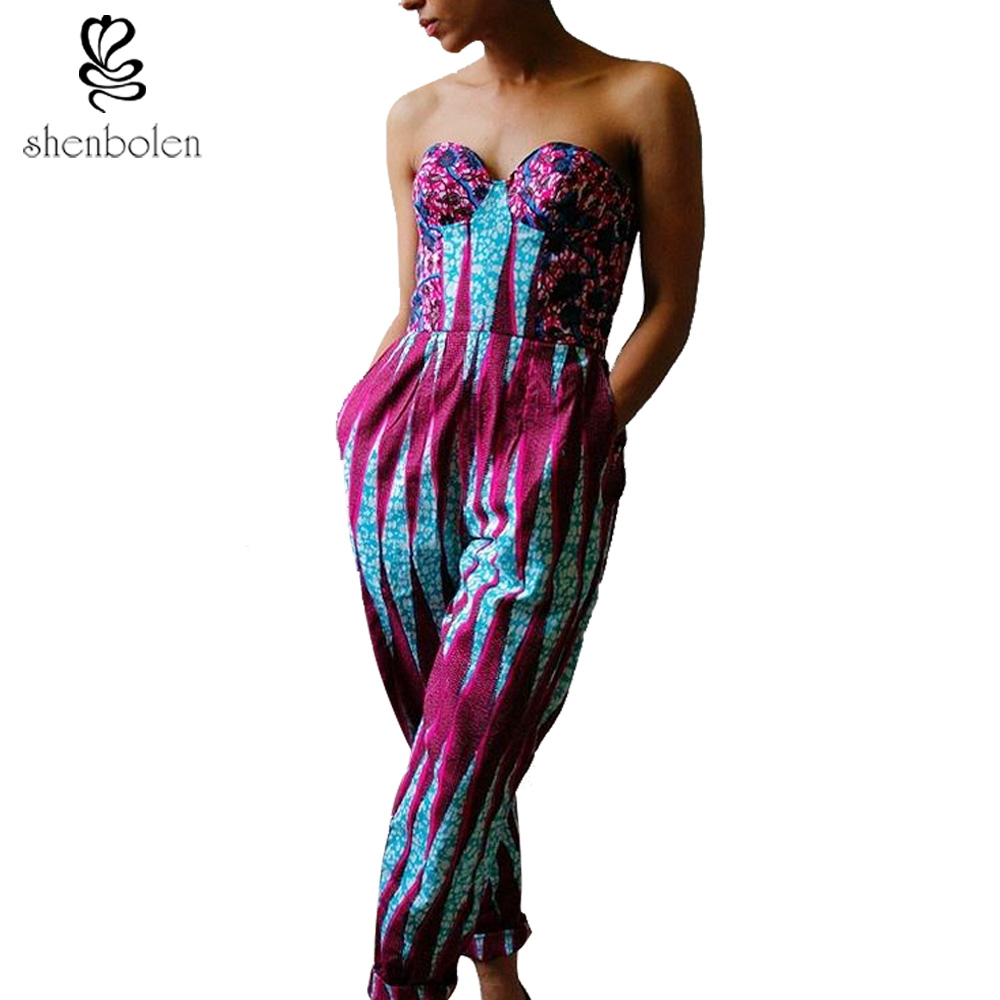 2016 summer fashion African clothing strapless sexy ...