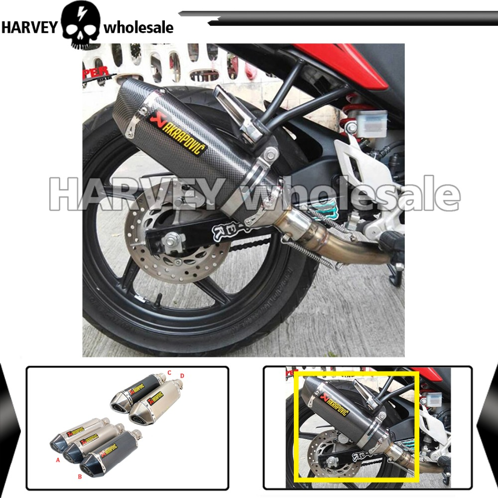 Modified Scooter Akrapovic yoshimura Exhaust Muffle pipe For  CBR CB400 CB600 CBR600 CBR1000 KTM ER6N ER6R YZF600<br><br>Aliexpress