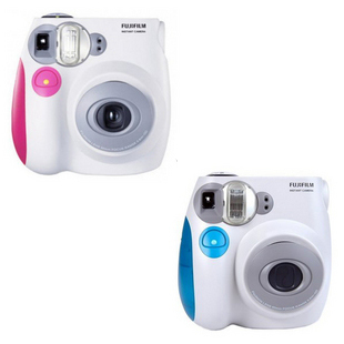 free shipping ! 100% original Mini7s pink blue lomo camera fuji polaroid mini 7s once imaging ,in stock(China (Mainland))
