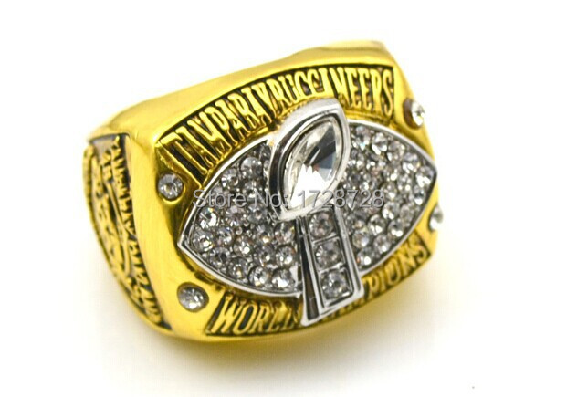 Replica 2002 super bowl Tampa Bay Buccaneers championship ring Size 11 Weight 80g Free shipping!(China (Mainland))