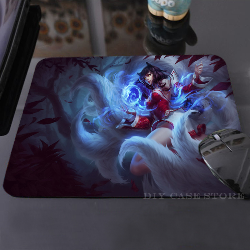 Vintage LoL Ahri Mouse Mat Silicon Cool Non-Skid Desk Gaming Pad - DIY Case Store store