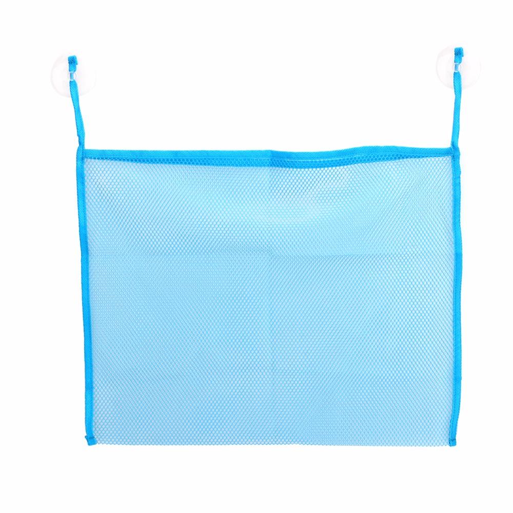 Hot Folding Baby Bathroom Mesh Bath Toy Storage Bag Net Suction Cup Baskets(China (Mainland))