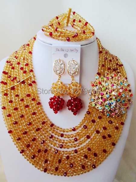 Latest  Fashion  crystal beads nigerian wedding african beads jewelry set costume jewelry sets  ASD1191<br><br>Aliexpress