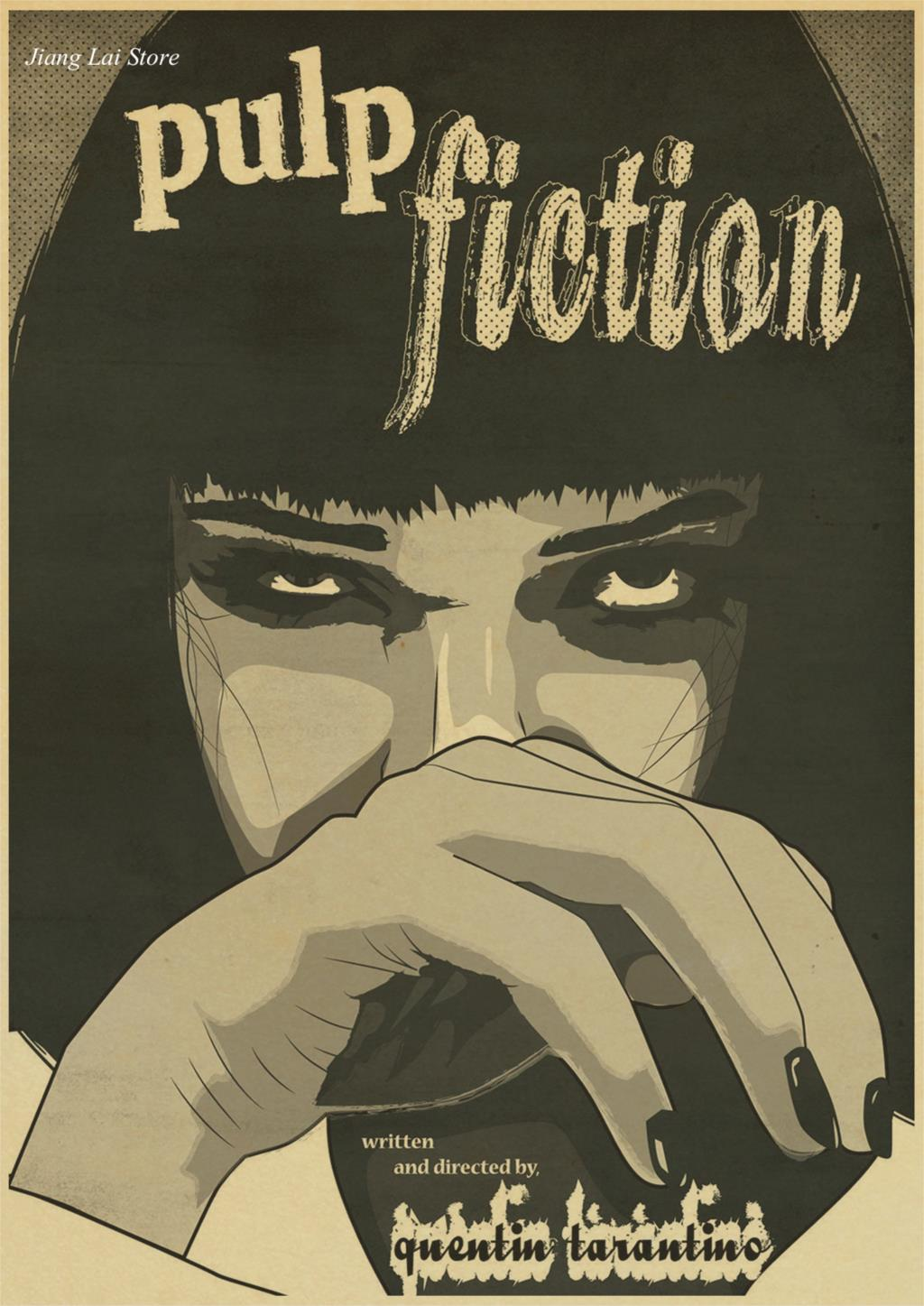 Pulp Fiction Vintage Retro Matte Kraft Paper Antique Poster Wall Sticker Home Decora