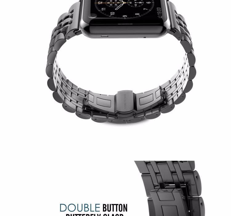 2016 новое прибытие 38 мм 42 мм Ремешок Для Часов Из Нержавеющей Стали Металлический Ремешок Классический Пряжки Адаптер Часы Полосы для Apple Смотреть оптовая