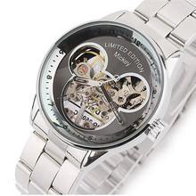 2016 New Arrivals Mickey Mechanical Hand Wind Mens Watches Limited Edition Women Watch Relogio Feminino Relogio Horloges Mannen