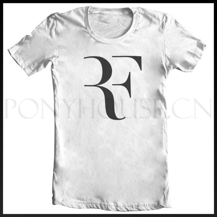TENNIS ROGER FEDERER RF T-shirt Top Lycra Cotton Men T shirt Fashion Original Brand New DIY Style High Quality(China (Mainland))