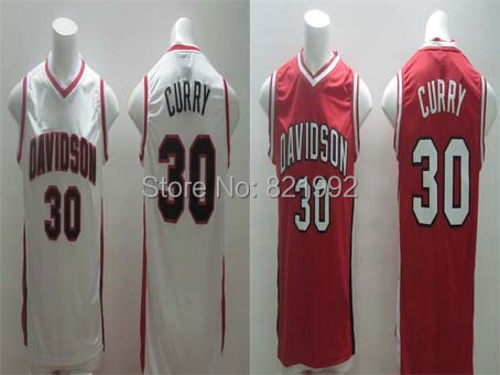 Hottest Sale #30 Stephen Curry Men's Davidson College NCAA Stitched Basketball Jerseys,Wholesale Cheap(China (Mainland))