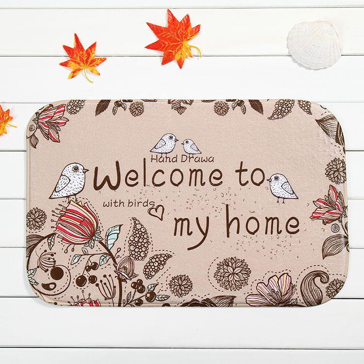 mat welcome to my home non slip ground mats bathroom carpet bedroom