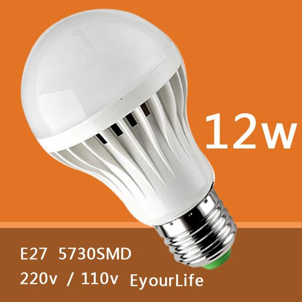 Eyourlife E27 5730/2835SMD 5W 9W 12W 15W 18W 20W 30W LED Lamp 220V/110V Cold Warm White Light Bulb Led Spotlight Lamps(China (Mainland))