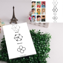 Kpop EXO NX ACT lucky one Monster album style workbooks Lay Sehun Chanyeol Do KAI Baekhyun Xiumin Chen(China (Mainland))