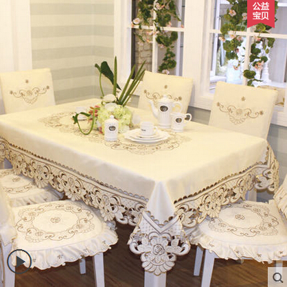 Home hotel dining/wedding embroidered chair Table Cloth Jacquard Floral Rectangular Tablecloth fabric to table covers(China (Mainland))