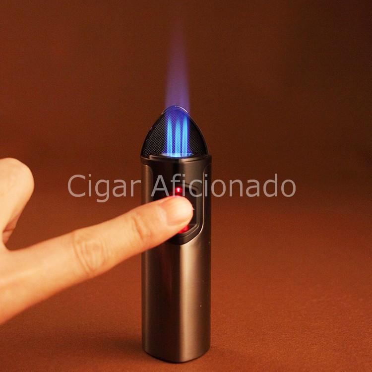 ถูก LUBINSKIสัมผัสอิเล็กทรอนิกส์เลเซอร์เหนี่ยวนำ3ไฟฉายเจ็เปลวไฟบุหรี่ซิการ์เบา