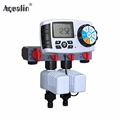 Automatic 4 Zone Irrigation System Garden Water Timer Controller with 2 Solenoid Valve 10204