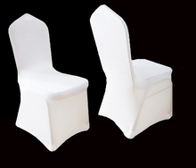1000 PCS Stretch Elastic Universal White Spandex Wedding Chair Covers for Weddings Party Banquet Hotel Lycra Polyester Fabric(China (Mainland))