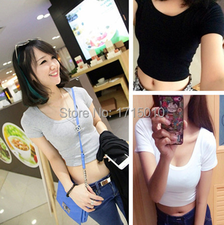 The Best A Woman Can Get 2015 Spring Summer Women Clothing Cropped Tops Bottoming Halter Short