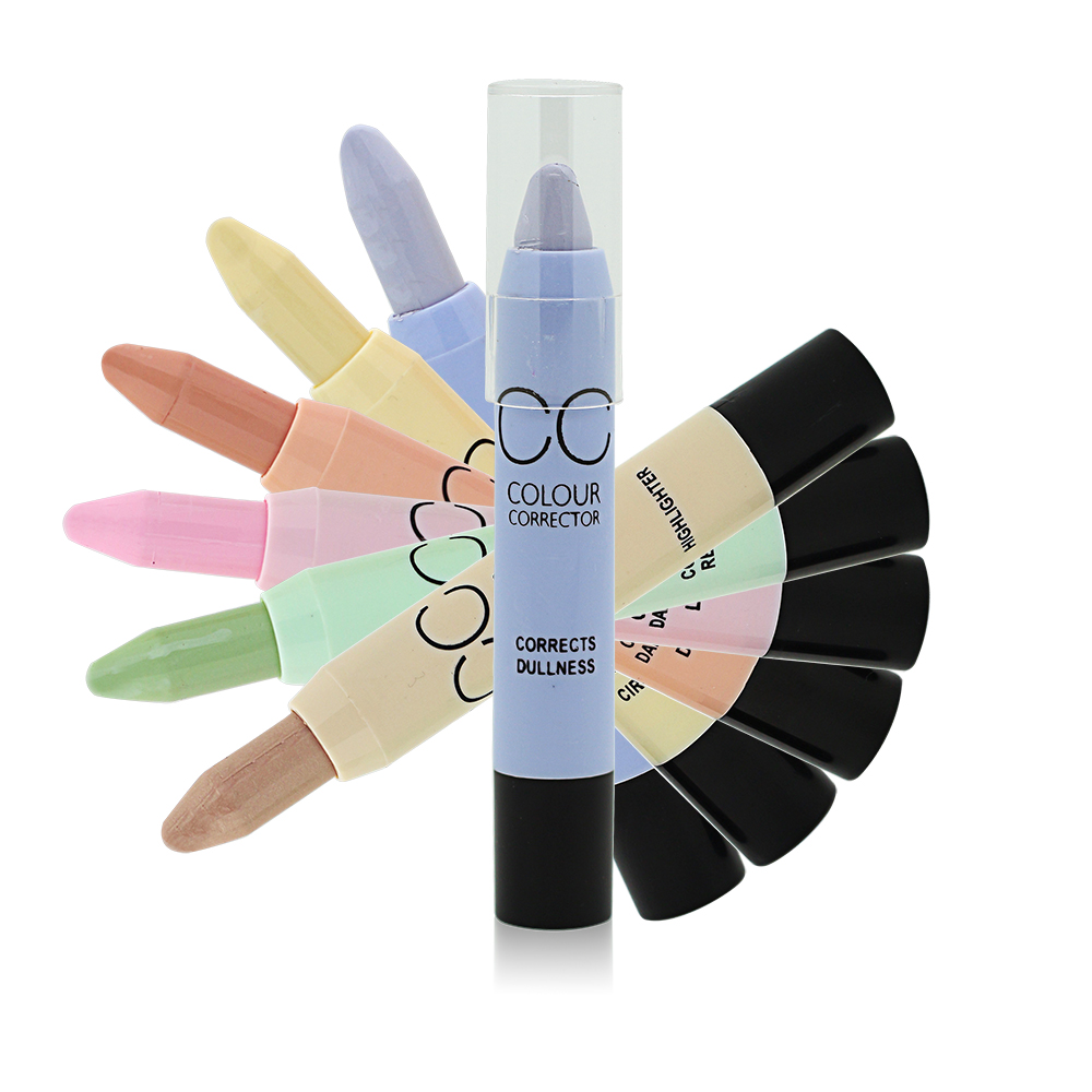 New Brand Face Makeup CC Color Corrector Blemish Concealer Cream Base Palette Pen Pencil Corretivo Stick By Menow Cosmetic(China (Mainland))