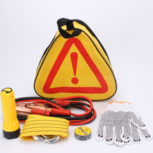 Car Emergency Kits 6 PCS Auto Roadside Emergency Tool Supplies Kit Bag Flashlight Car Breakdown Safety Equipment Survival Gear(China (Mainland))