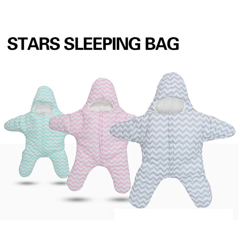 Newborn Baby Sleeping Bag Sea Star Shaped Winter Warm Thick Stroller Sleeping Sack For Infant Wrap Sleepsack Blanket&amp;Swaddling <br><br>Aliexpress