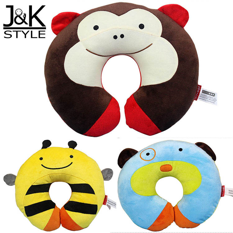 High Quality U Shape Children's Neck Pillow Rest Protect Kids Neck Soft & Warm car Travel/ Take A plane Naps(China (Mainland))