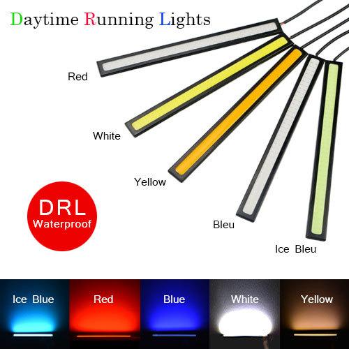 1 шт. длилась ультра яркий 17 см из светодиодов дневные ходовые огни DC 12 В 100% водонепроницаемый COB авто источником света автомобиля DRL туман дневной