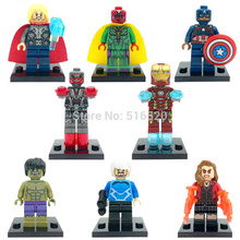 Minifigure Black Widow Hulk Thor 8pcs/lot Figures Building Blocks Sets Model Bricks Toys For Children