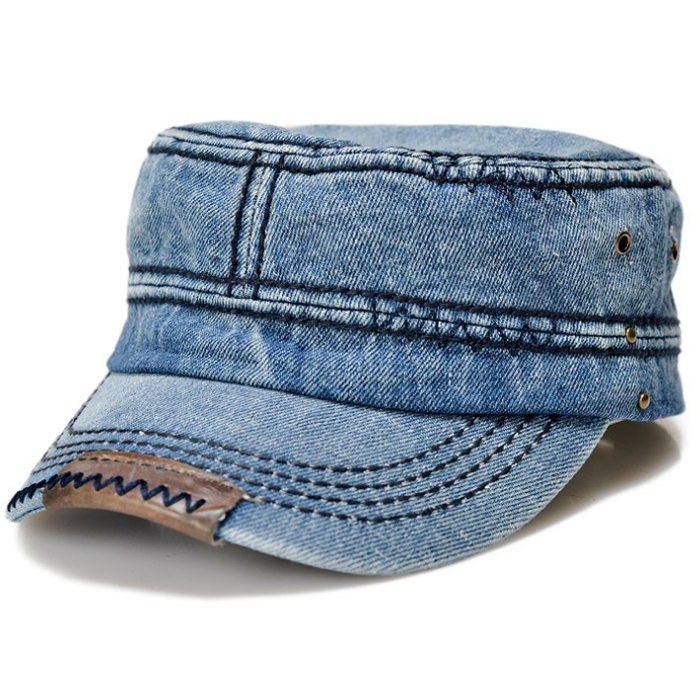 New sun caps Hip-hop Baseball unisex summer spring hats men casual style fashion cotton denim blue wholesale(China (Mainland))