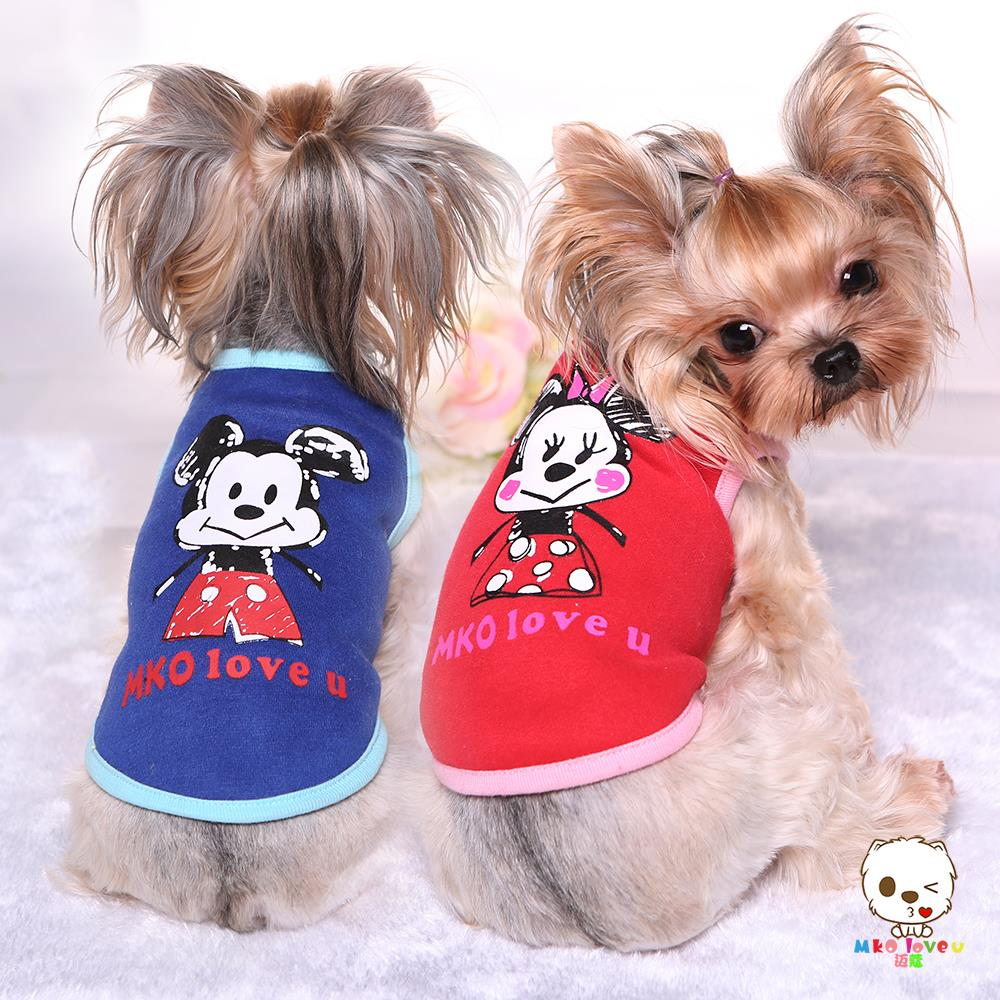 Christmas new winter Autumn pet dog clothes cartoon dog brushed cotton vest rose color green and orange Coat Dress Pajams Girl(China (Mainland))