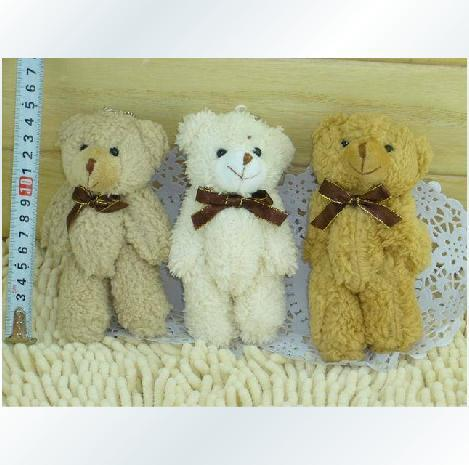 5 PCS/LOT New cute small teddy bear plush toys white brown soft bears animal toy gifts peluches stuffed bicho ursinho de pelucia(China (Mainland))