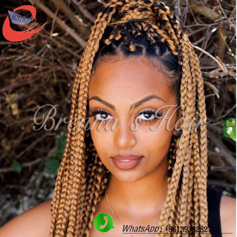 Cheap crochet braids18inch blonde crochet hair Synthetic box braids ...