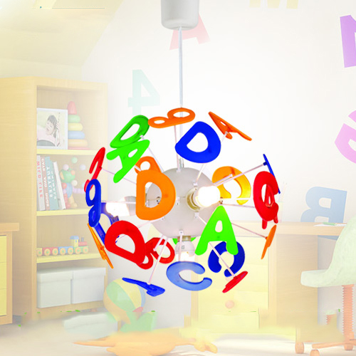 Simple Lighting For Kids Bedroom Pendant Light Children Light Cartoon ABCD Pattern 4 Lights Include Bulbs(China (Mainland))