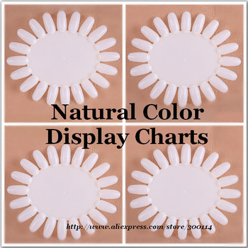 wholesale excellent white color chart for uv gel Nail Art  Practice Display rack paint acrylic tips Tool 60pcs/lot free shipping
