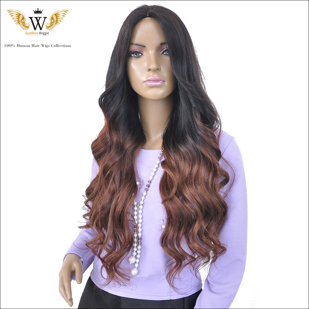 180 Density Ombre Brazilian Wavy Full Lace Front Wigs With Baby Hair/Glueless Burgundy Virgin Wavy Lace Front Human Hair Wigs<br><br>Aliexpress