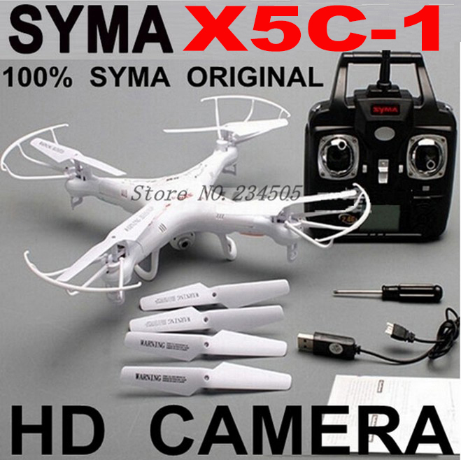 Best Price-Seller! Original Syma x5c Upgrade X5C-1 4CH 6-Axis Remote Control RC Helicopter Quadcopter Drone With Camera -Vs X5SW(China (Mainland))