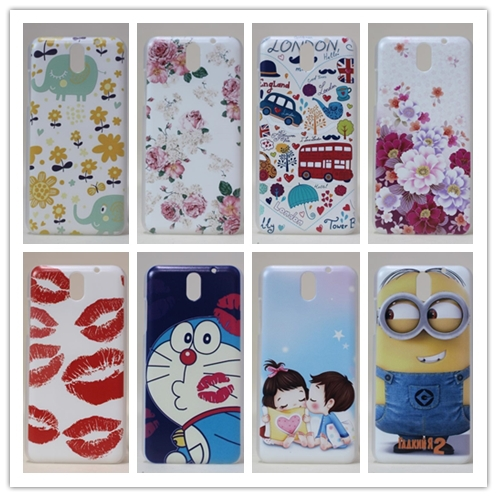 19 pattern / car bus flower lover tower sexy lip hard PC plastic painting case For HTC desire 610 D610T case back cover gel(China (Mainland))