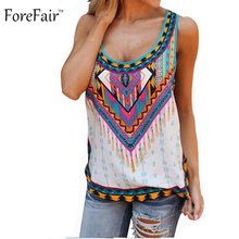 S-5XL Summer Bohemian Loose Long Women Tops Print Beach Casual Tank Top Plus Size Women Clothing Sexy camiseta(China (Mainland))