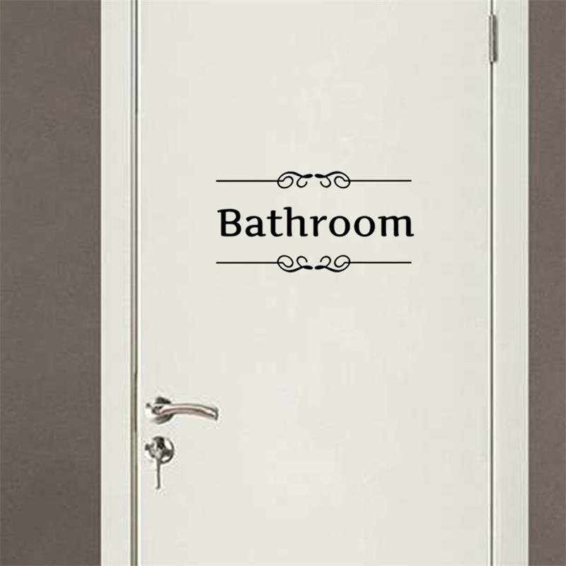 Aliexpress.com : Buy Bathroom Shower Room Door Entrance Sign Stickers Decoration Wall Decals For