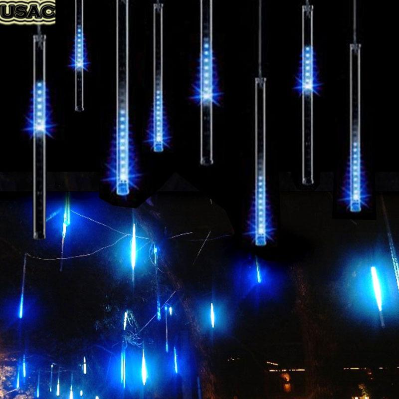 100-240V/EU 50CM Meteor Shower Rain Tubes LED Christmas Decoration For Home Wedding String Lights Adornos Navidad Blue R20(China (Mainland))