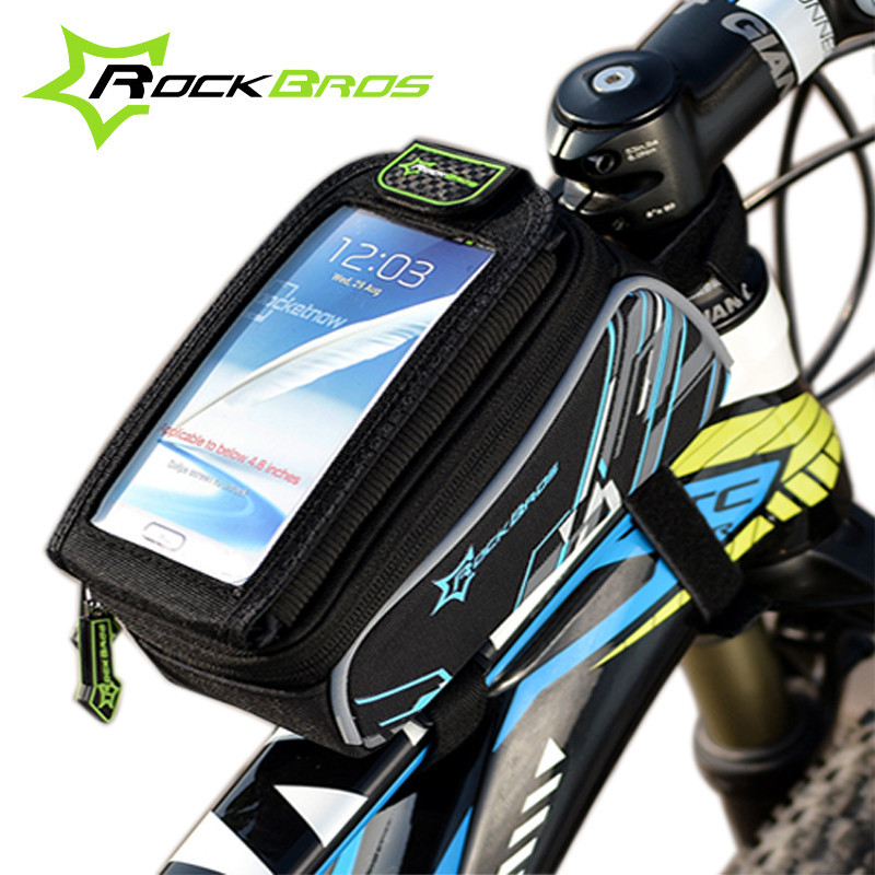 """Rockbros Bike Bags Brand Sport MTB Road Folding Bicycle Bags Basket Cycle Cycling Bags 4.8""""/6.0"""" Phone Case Bicycle Accessories(China (Mainland))"""