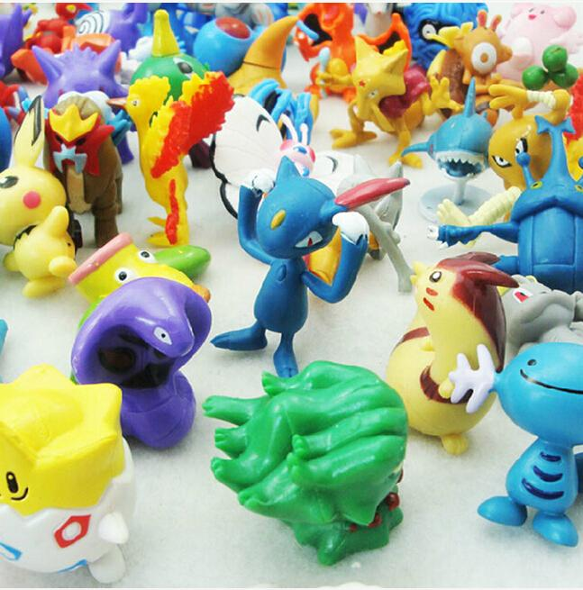 24Pcs/Set Cute Pokemon Monster Mini Figures Toys Lot 2-3cm in Random Best Kids Toys Wholesale(China (Mainland))