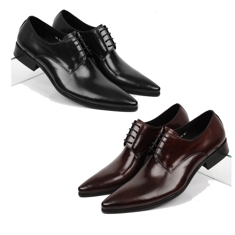 2015 New Design Men Shoes Leather Italian Luxury Oxford,Lace -UP Handmade Men Shoes Genuine Leather Casual Moccasin Size: 37-44(China (Mainland))