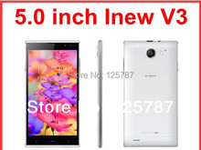 Original iNew V3 Quad Core 3G smart phone Android 4.4.2 phone 1G RAM 16GB ROM 5 inch HD 13MP Camera gift case Russian NFC(China (Mainland))