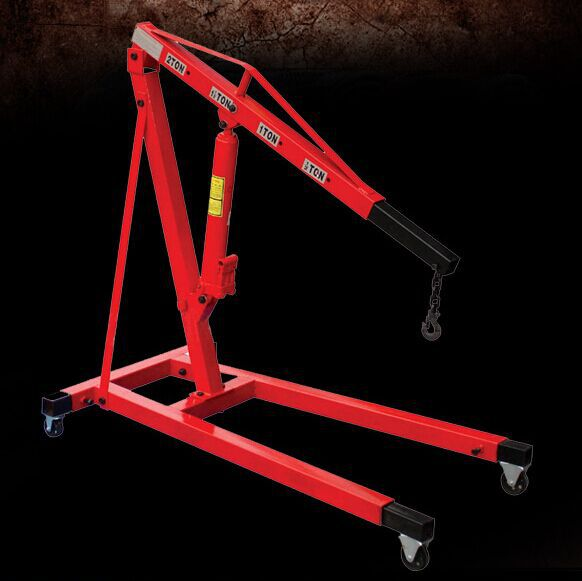 2 T Thickening folding car small crane engine hanger hanging manual hydraulic crane jack with the low price(China (Mainland))