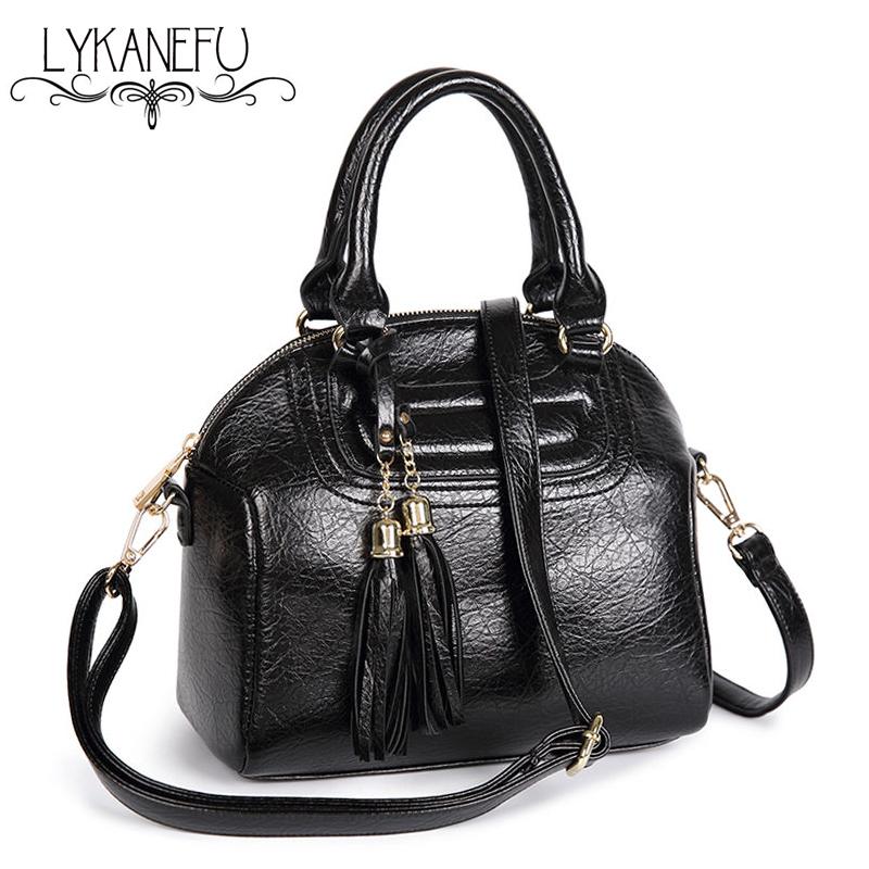 Soft PU Leather Bag Women Leather Handbags Tote Purse and Handbag Womens Bags with Tassel Strap Sac a Main Femme de Marque <br><br>Aliexpress