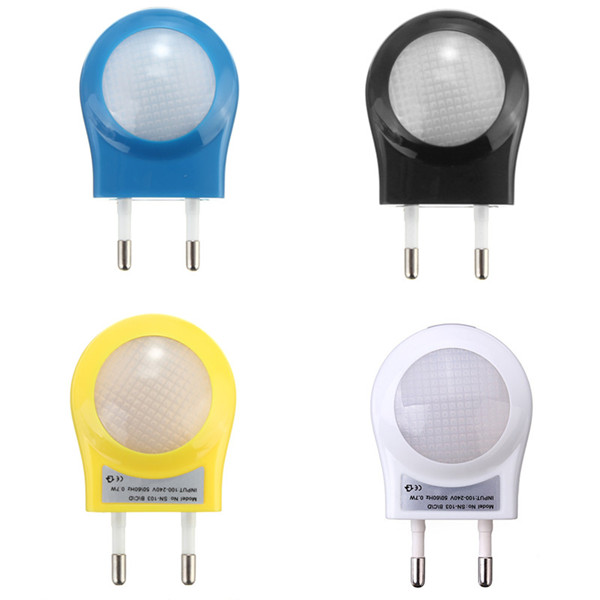 New Arrival Mini LED Night Light Lighting Control Auto Sensor Baby Kid Bedroom Lamp EU Plug White Green Blue Black<br><br>Aliexpress