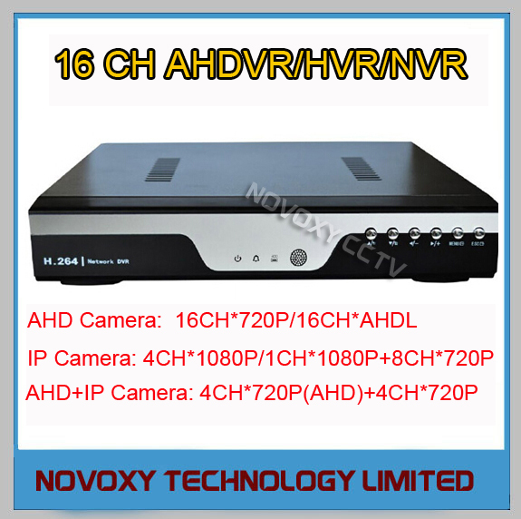 Stand Alone H.264 Onvif  P2P 16CH Realtime Analog High Definition AHD DVR AVR HVR SDVR NVR Max Support 2x 4T HDD  Free Shipping<br><br>Aliexpress