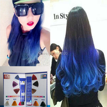 100ml pure hair cream semi permanent hair colored Hair Dye colorful with a free gift (oxygen milk water)(China (Mainland))