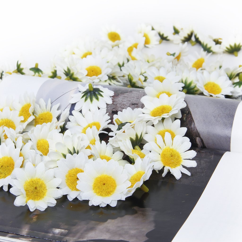 EWS Approx 100pcs Spring Daisy flowers artificial Artificial Gerbera Daisy Flowers Heads for DIY Wedding Party decoration(China (Mainland))