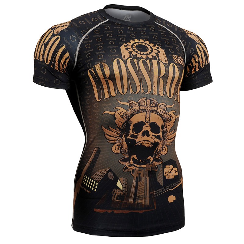 2016 ice hockey jerseys t shirts men 4 way stretch shirt skulls printing t shirts sublimation all over printing clothing(China (Mainland))